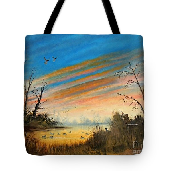 Evening Duck Hunt Tote Bag