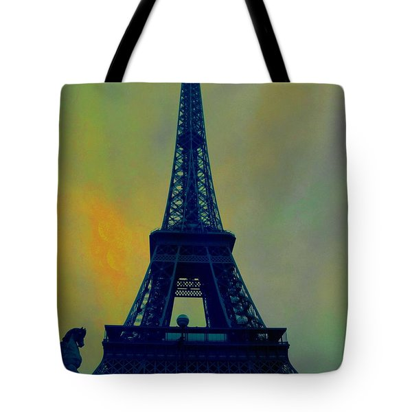 Evening Eiffel Tower Tote Bag