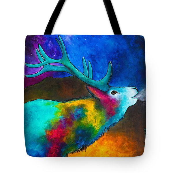 Evening Elk Tote Bag