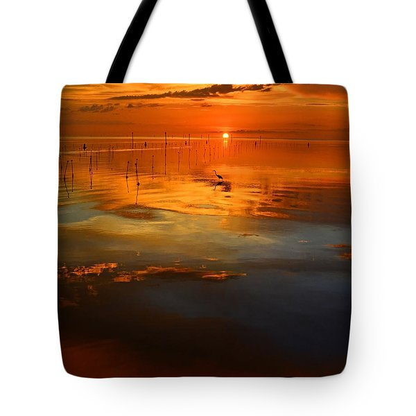 Evening Fishing Tote Bag
