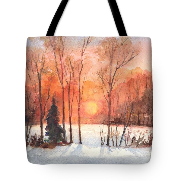 The Evening Glow Tote Bag