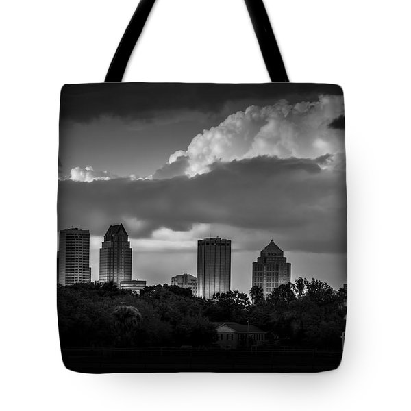 Evening Gray Tote Bag by Marvin Spates