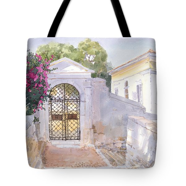 Evening Hroussa Tote Bag by Lucy Willis