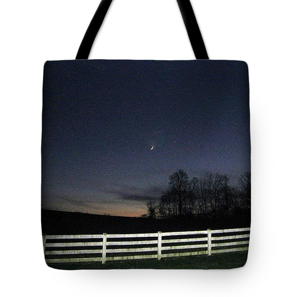 Tote Bag featuring the photograph Evening In Horse Country by Judith Morris