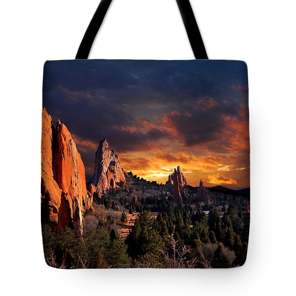 Evening Light At The Garden Tote Bag