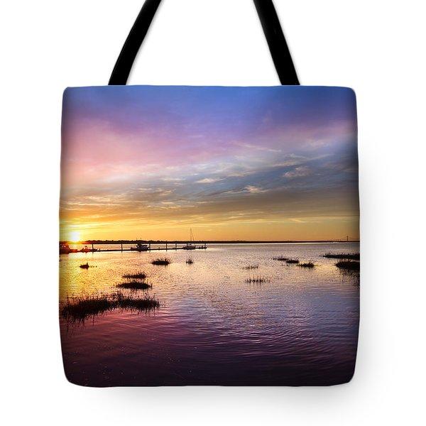 Evening Light Tote Bag by Debra and Dave Vanderlaan