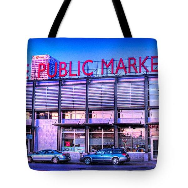Evening Milwaukee Public Market Tote Bag