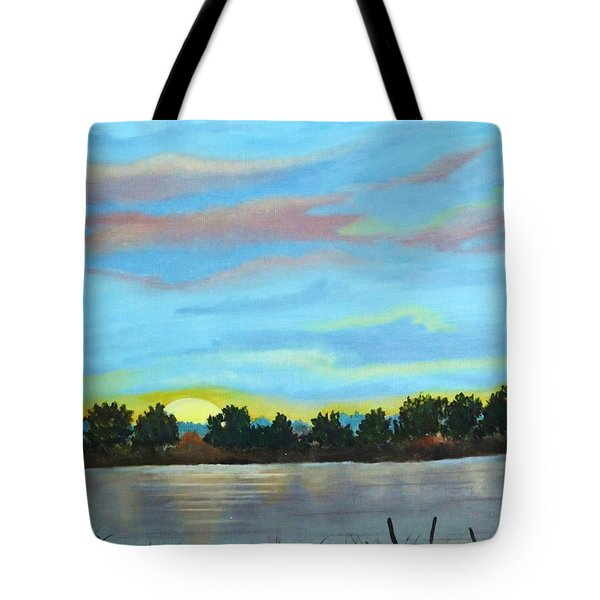 Evening On Ema River Tote Bag
