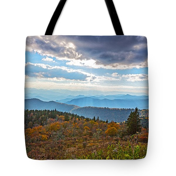 Evening On The Blue Ridge Parkway Tote Bag