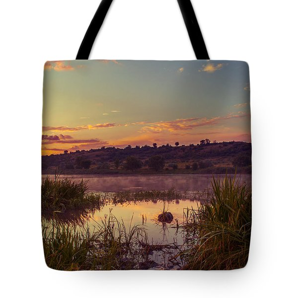 Evening On The Quiet River Tote Bag