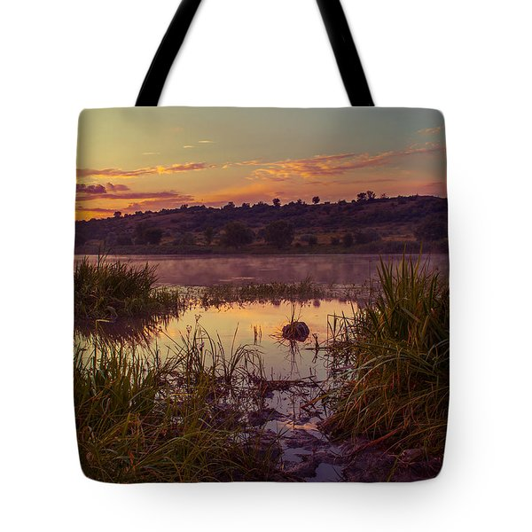 Tote Bag featuring the photograph Evening On The Quiet River by Dmytro Korol