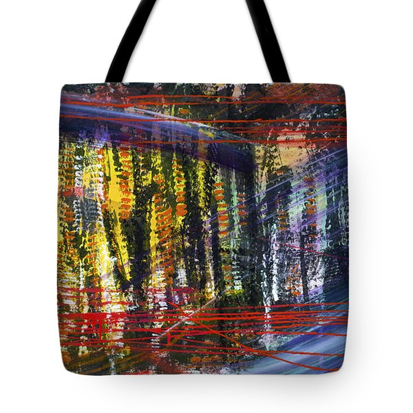 Evening Pond By A Road Tote Bag