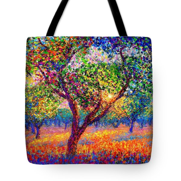 Tote Bag featuring the painting Evening Poppies by Jane Small
