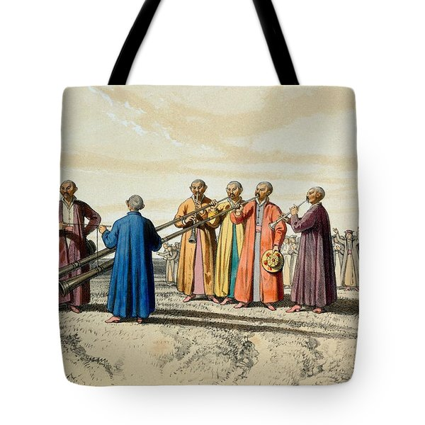 Evening Prayer Among The Kalmuks, Using Tote Bag by Francois Fortune Antoine Ferogio