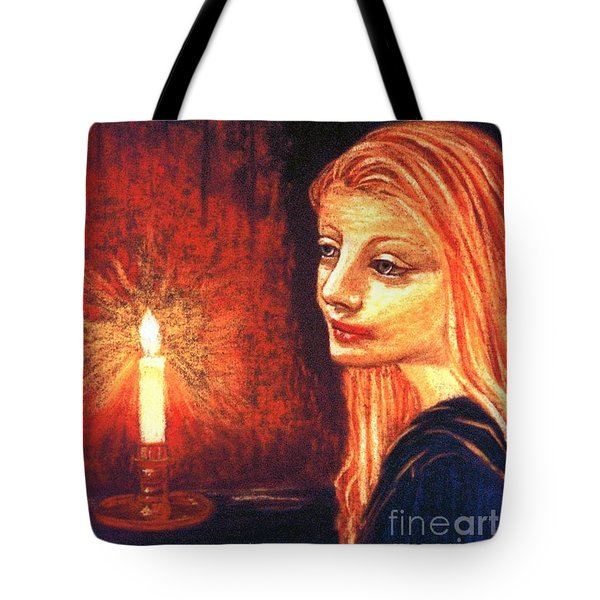 Tote Bag featuring the painting Evening Prayer by Jane Small
