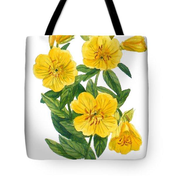 Evening Primrose - Oenothera Fruticosa Tote Bag