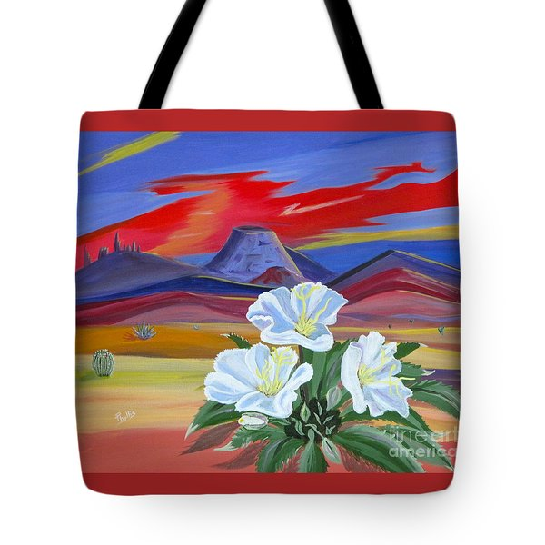 Tote Bag featuring the painting Evening Primrose by Phyllis Kaltenbach