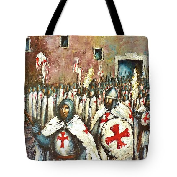 Templar Procession  Tote Bag