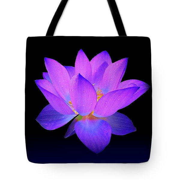 Evening Purple Lotus  Tote Bag by David Dehner