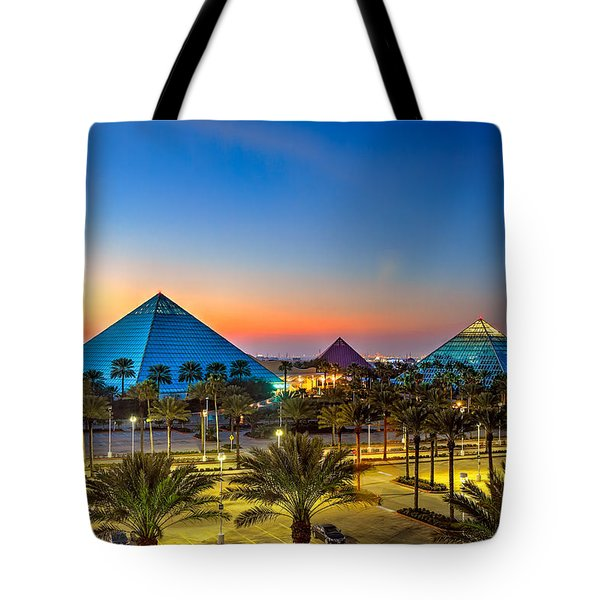Evening Pyramids Tote Bag by Tim Stanley