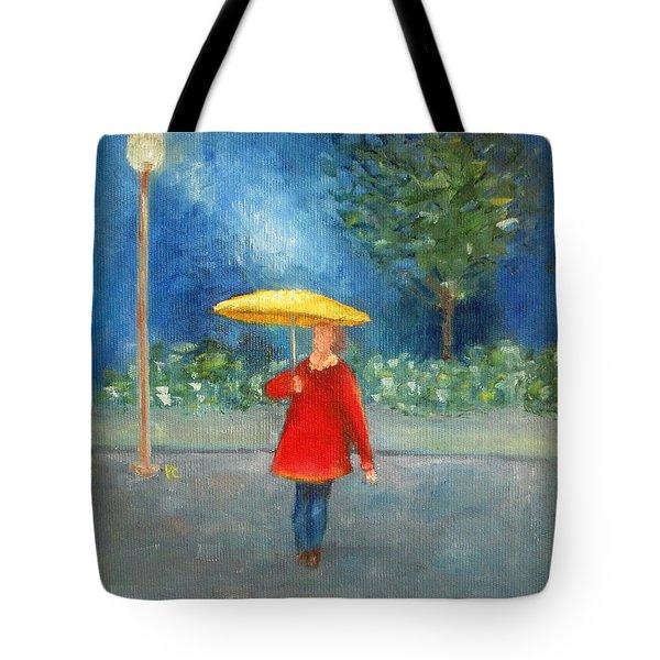 Evening Rain Tote Bag
