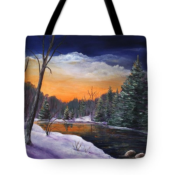 Evening Reflection Tote Bag by Anastasiya Malakhova