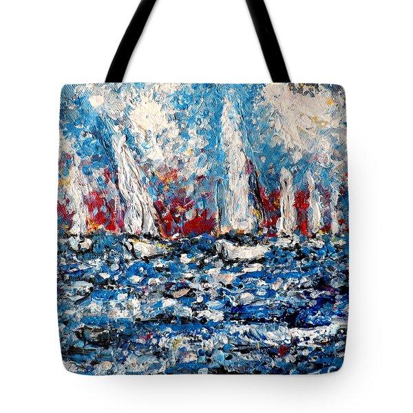 Evening Sailing Tote Bag
