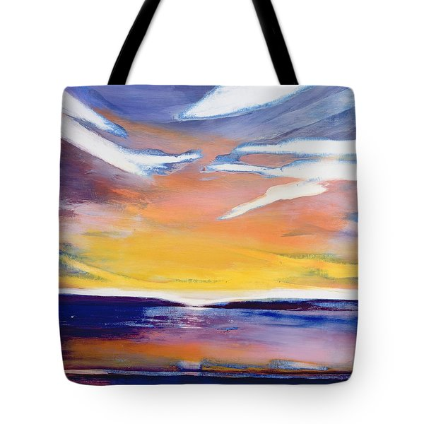 Evening Seascape Tote Bag by Lou Gibbs