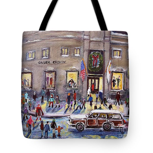 Evening Shopping At Grover Cronin Tote Bag