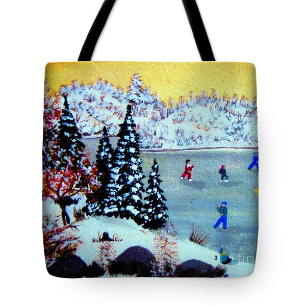 Evening Skating Tote Bag by Barbara Griffin