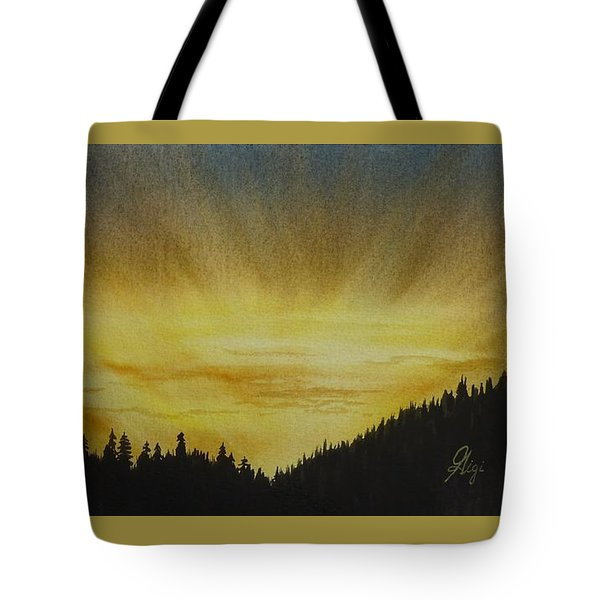 Tote Bag featuring the painting Evening Splendour by Gigi Dequanne