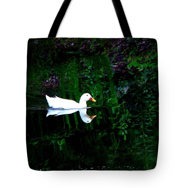 Tote Bag featuring the photograph Evening Swim by Greg Simmons