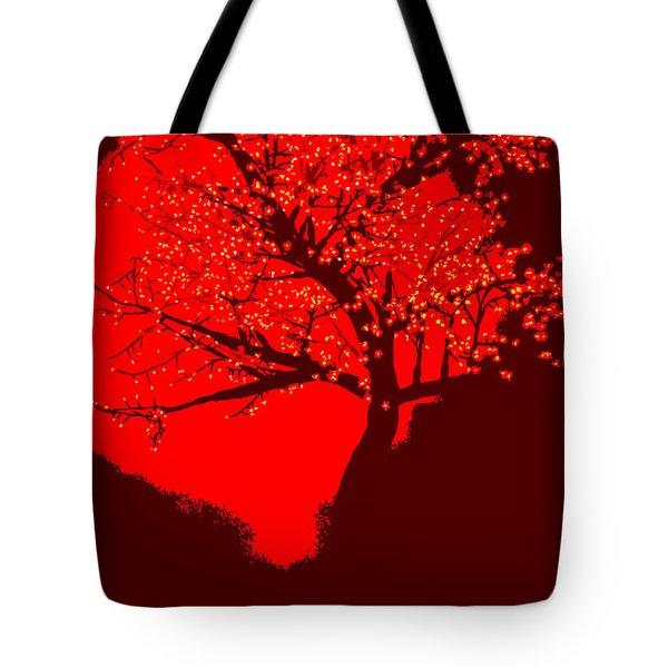 Evening Tree Tote Bag
