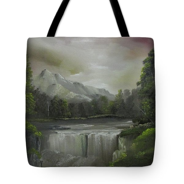 Evening Waterfalls Tote Bag