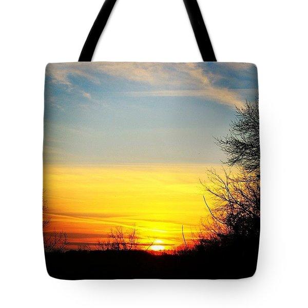 Evening Winter Sky Tote Bag