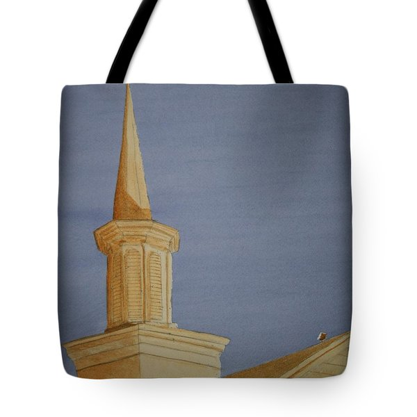 Tote Bag featuring the painting Evening Worship by Stacy C Bottoms