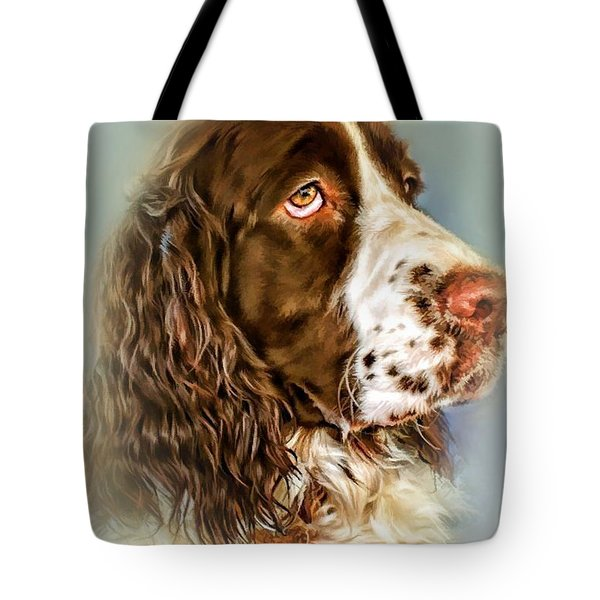 Ever Watchful English Springer Spaniel Tote Bag by Wallaroo Images