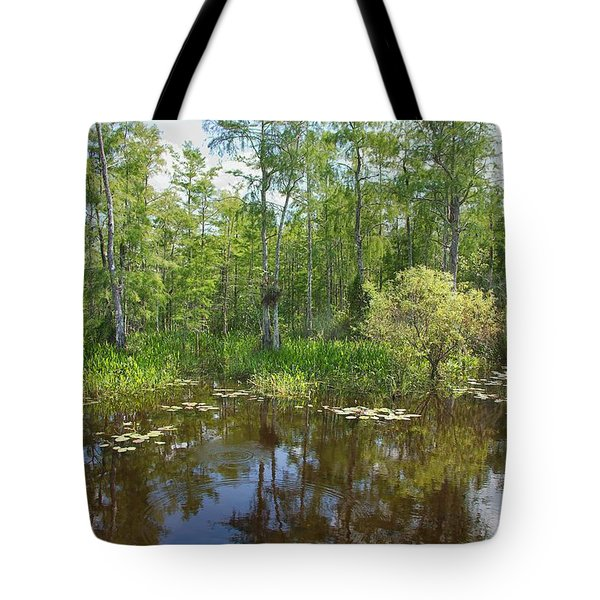 Everglades Lake Tote Bag by Rudy Umans