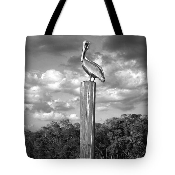 Everglades Pelican Tote Bag by Timothy Lowry