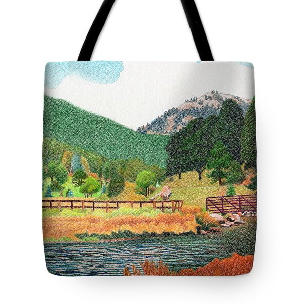 Evergreen Lake Spring Tote Bag