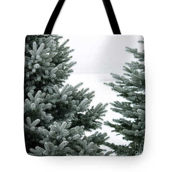Evergreens Tote Bag by Debbie Hart