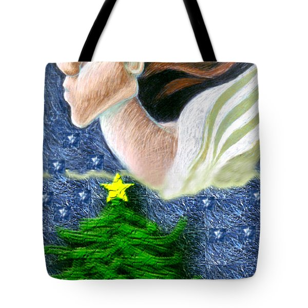 Everseeing Christmas Angel Tote Bag by Genevieve Esson
