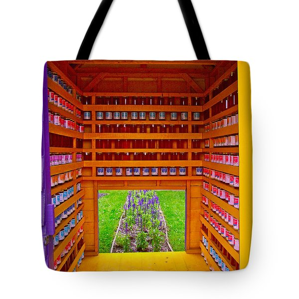 Every Garden Needs A Shed And Lawn Three In Reford Gardens Near Grand-metis-qc Tote Bag by Ruth Hager