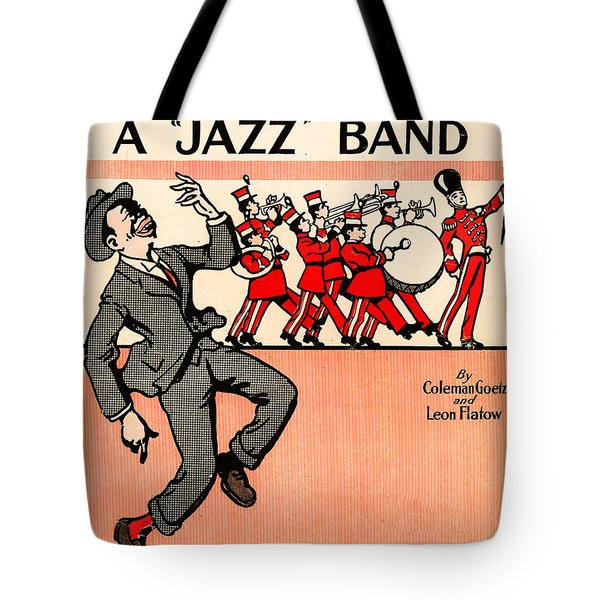 Everybody Loves A Jazz Band Tote Bag by Bill Cannon