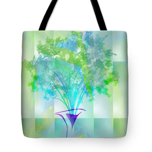 Tote Bag featuring the digital art Everyday Bouquet by Frank Bright