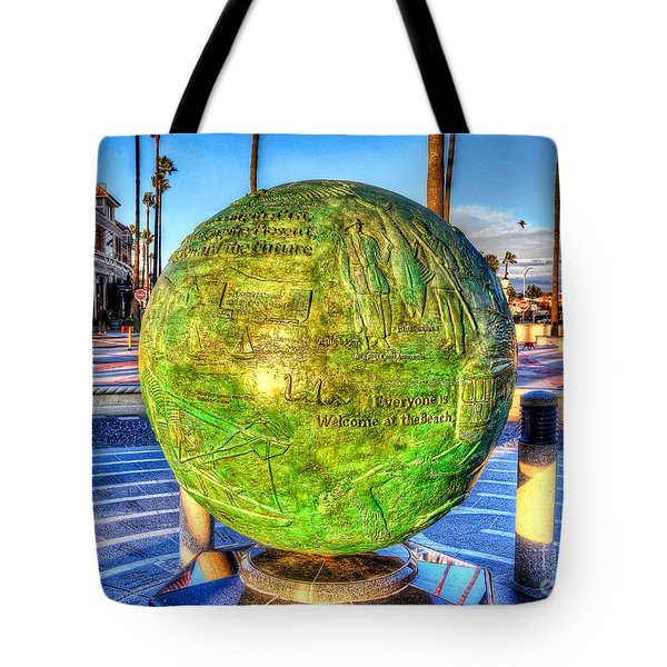 Everyone Is Welcome At The Beach Tote Bag by Jim Carrell