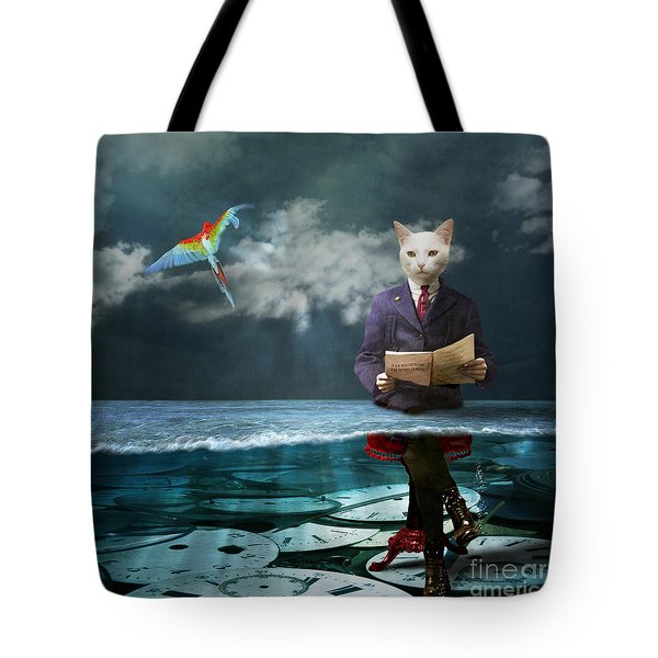 Everything Is A Matter Of Time Tote Bag by Martine Roch