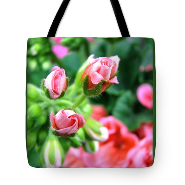 Tote Bag featuring the photograph Everything's Coming Up Geraniums by Brooks Garten Hauschild