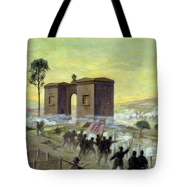 Ewells Charge On Cemetery Ridge Tote Bag