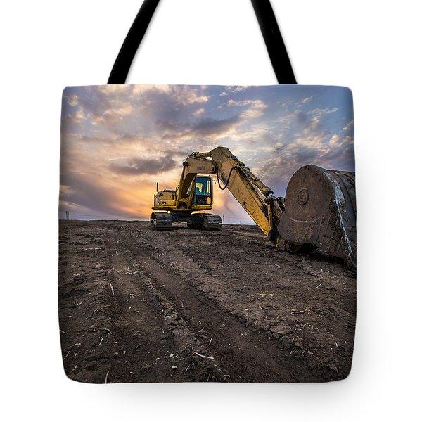 Excavator Tote Bag